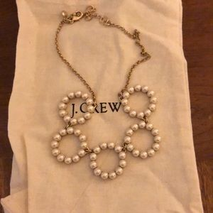 j. Crew factory pearl hoop necklace.